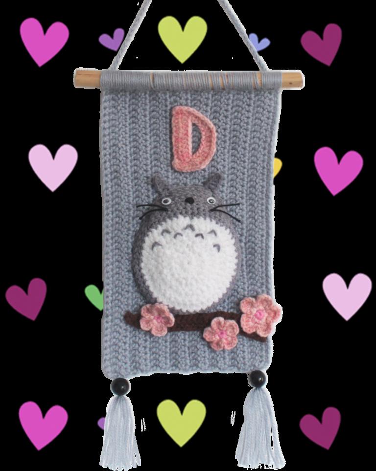 Totoro Crochet Wall Hanging – a Free Pattern