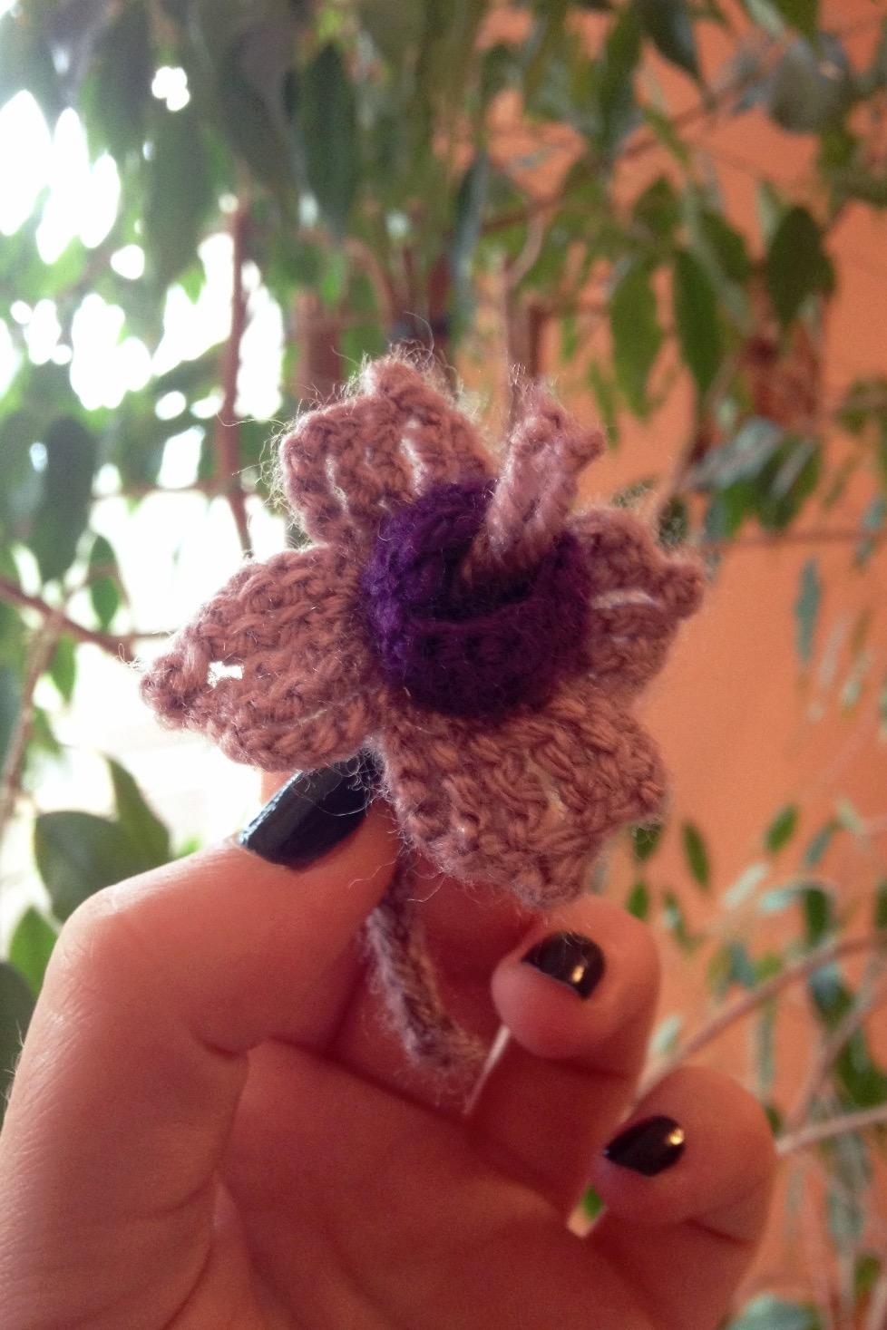 Stunning Crochet Fuchsia Brooch