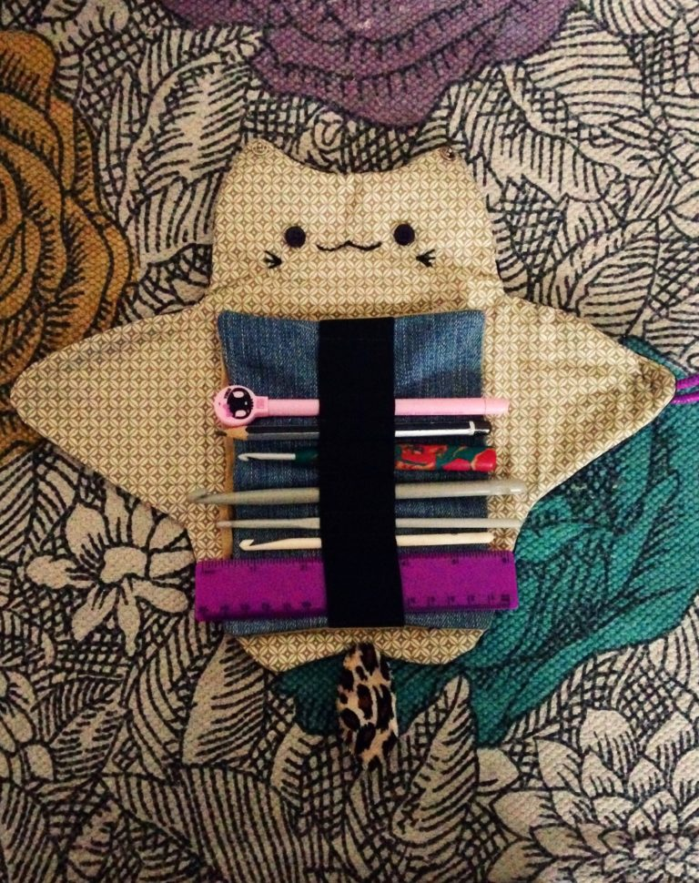 DIY Kawaii Kitty Organiser Bag / Pencil Case