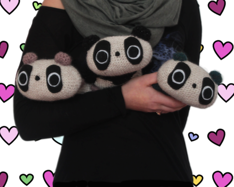 Mini Tare Pandas Crochet Toys