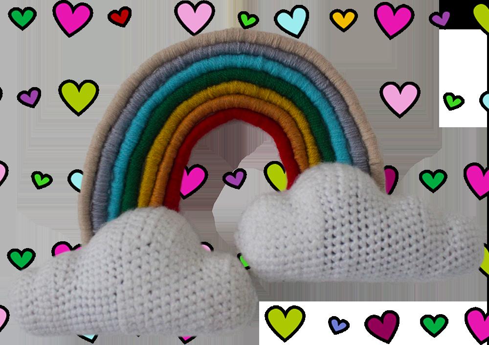 Rainbow & Clouds Nursery Wall Hanging DIY