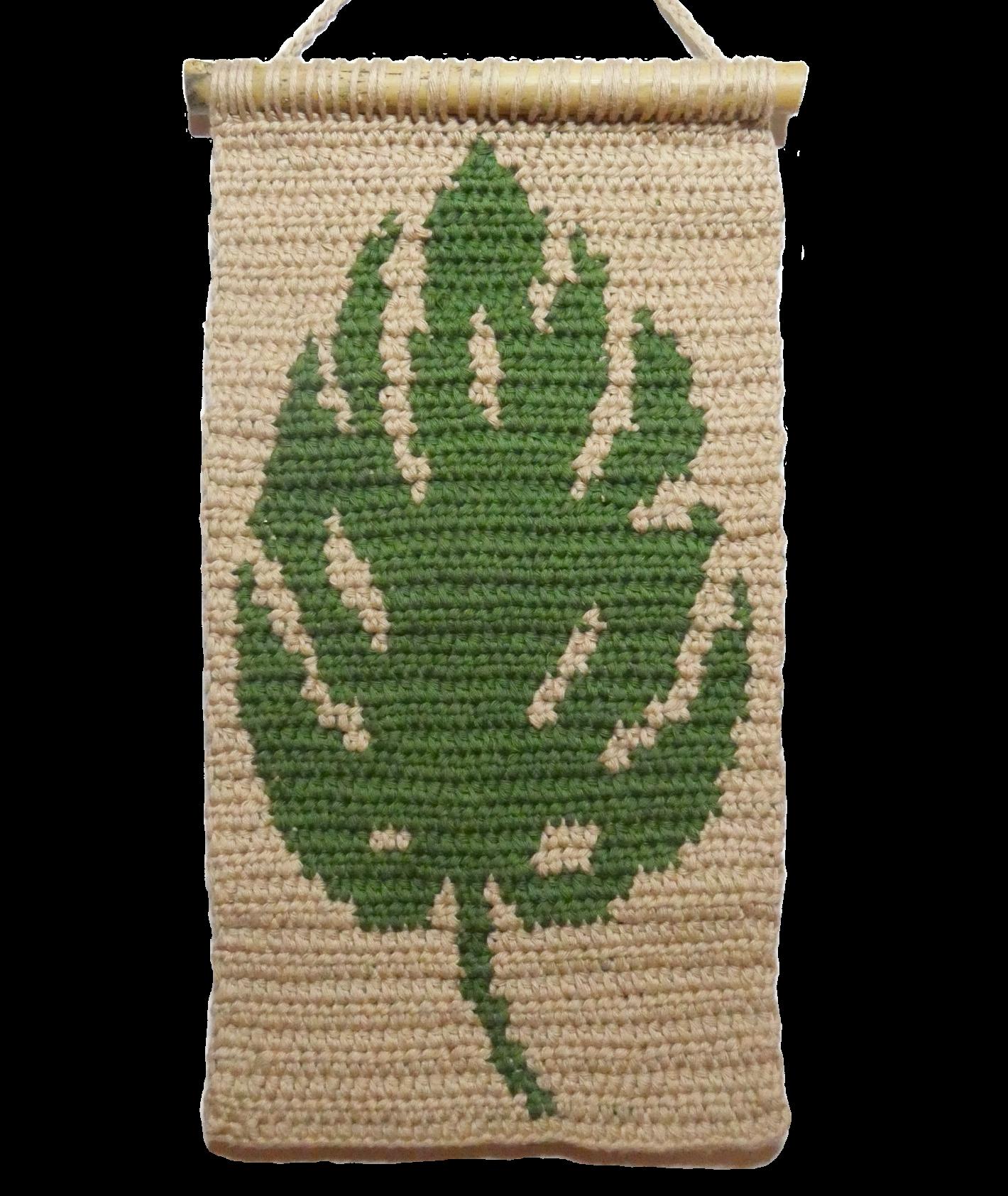 Make A Modern Monstera Crochet Wall Hanging