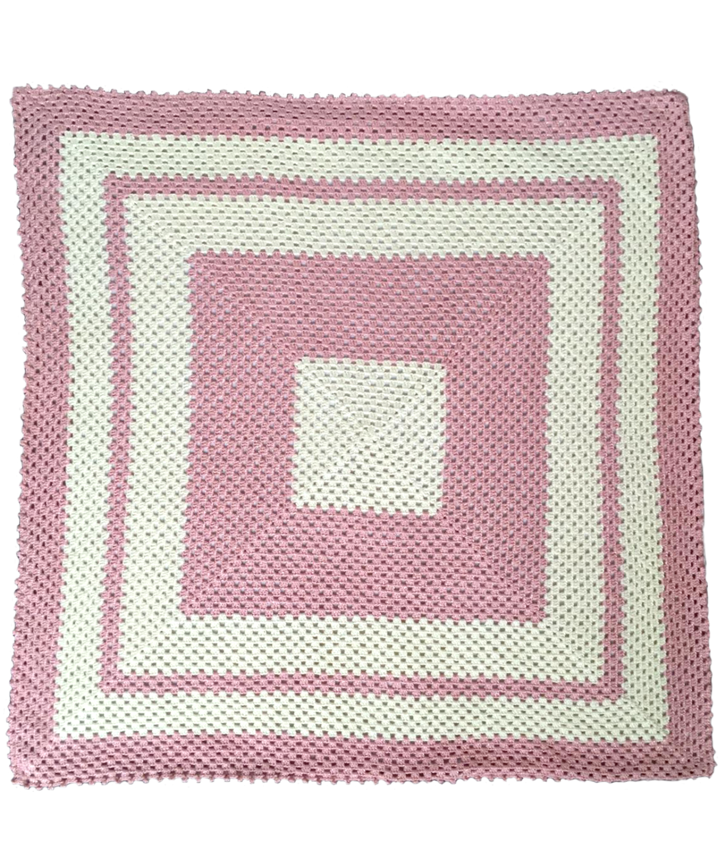 Another Beautiful Granny Square Crochet Blanket with Fabric Backing